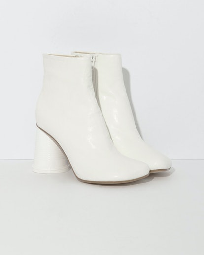 MM6 Maison Margiela Ankle Boots with Cup Heel in White