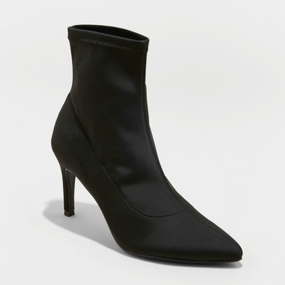 Women's Cady Pointed Stiletto Sock Booties - A New Day™
