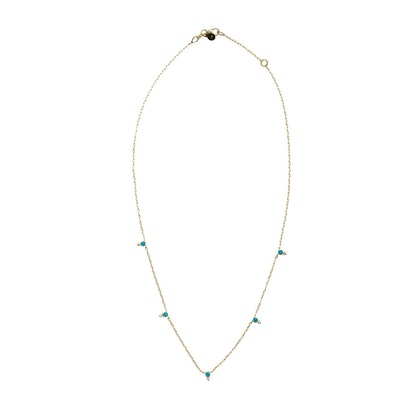 Devere Turquoise and Diamond Necklace