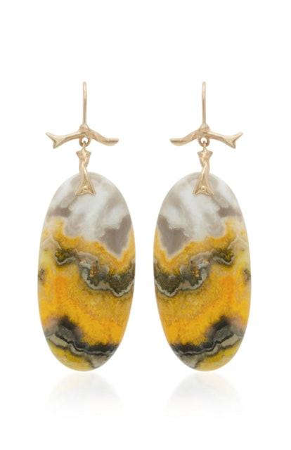 Bumblebee Jasper Earrings