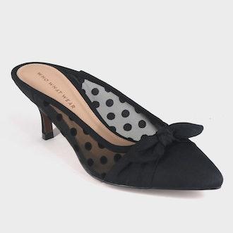 Women's Kitten Heeled Mules - Who What Wear™