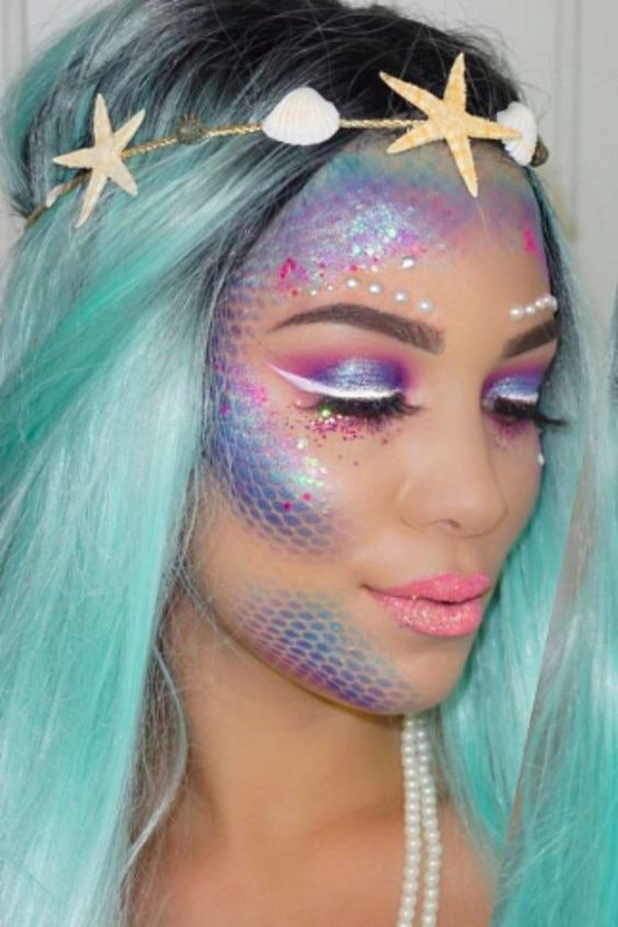 6 Halloween Looks With Just Eyeshadow That Look So Good Nobody Will - Halloween-face-makeup