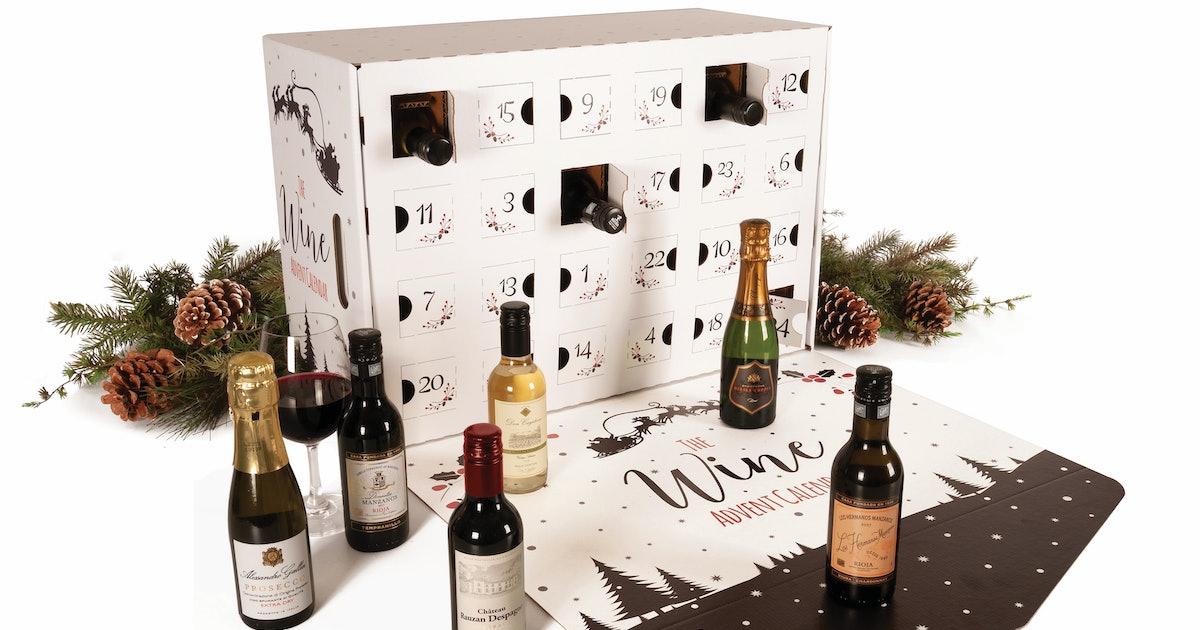 this wine lovers 39 advent calendar lets you pop a bottle. Black Bedroom Furniture Sets. Home Design Ideas