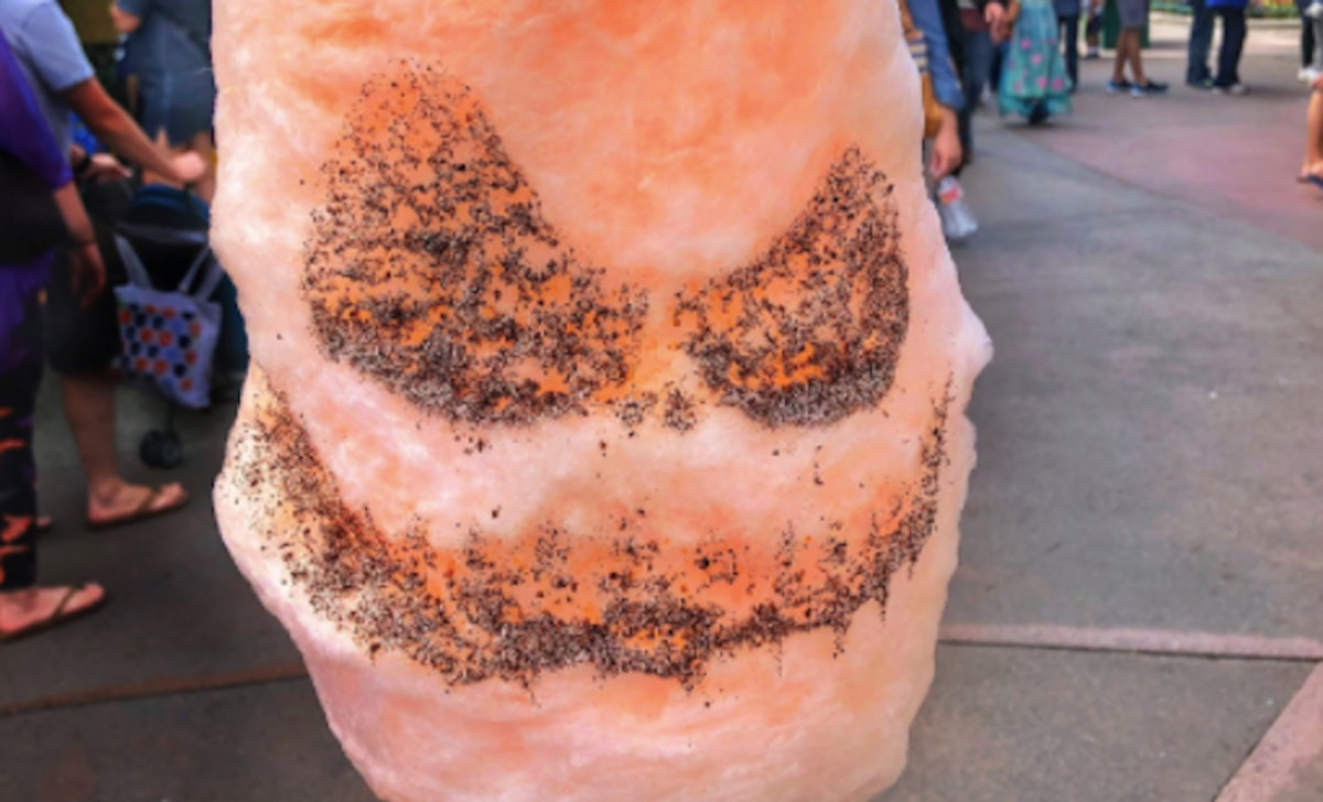 Disney's Jack Skellington Cotton Candy Is The Sweet & Spooky Snack You'll Crave