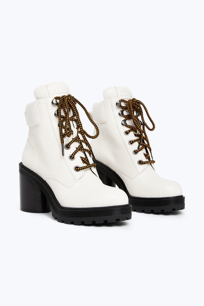White Hiking Boots