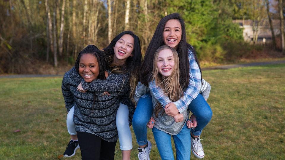 girls outside on international day of the girl