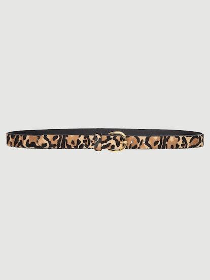 Skinny Cheetah Suede Belt