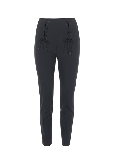 Anson Stretch High Waisted Skinny Tie Pants