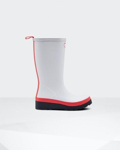 Original Play Tall Rain Boots: Hunter Red/Multi