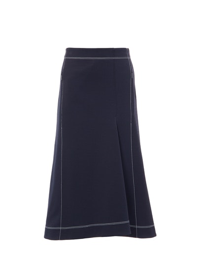 Stretch Cavalry Twill Sculpted Skirt