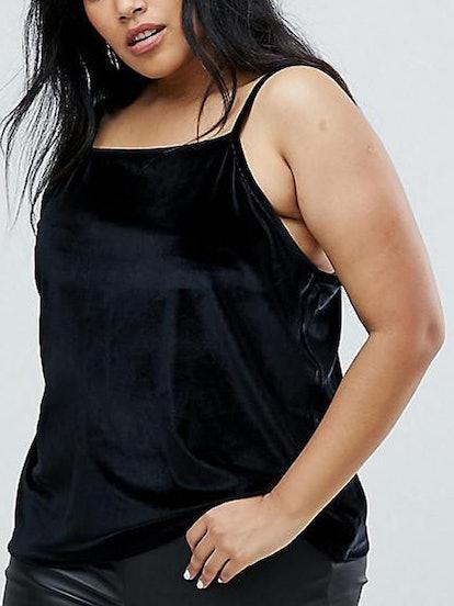Cami In Velvet With Square Neck