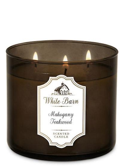 White Barn Mahogany Teakwood 3-Wick Candle