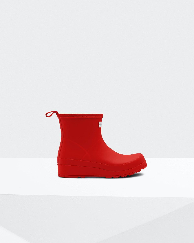 Original Play Short Rain Boots: Hunter Red