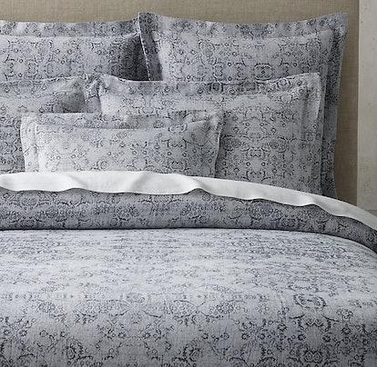 Esmé Jacquard Cotton-Linen Bedding Collection