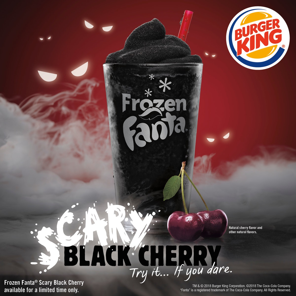 "A Frozen Fanta ""Scary Black Cherry"" Drink Just Hit Burger King For Halloween"