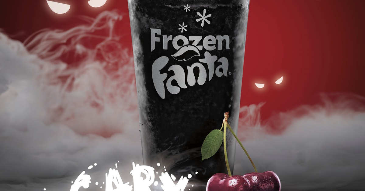 """A Frozen Fanta """"Scary Black Cherry"""" Drink Just Hit Burger King For Halloween"""