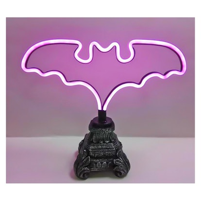 Halloween Light Up Bat Table Decor Purple