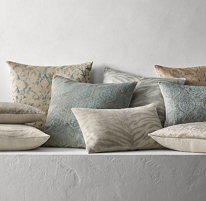 Silk-Screened Velvet Pillow Collection