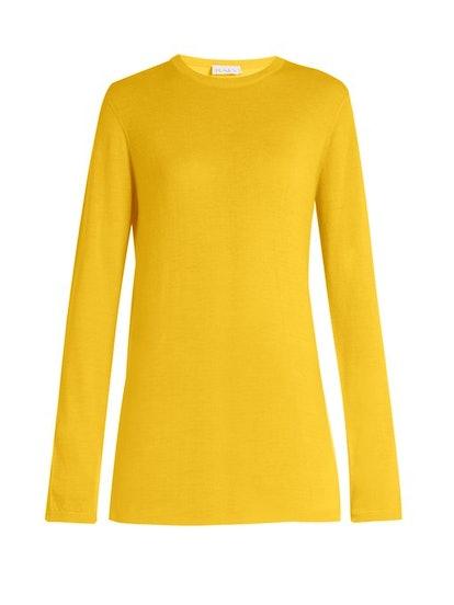 Raey Long-Line Fine-Knit Cashmere Sweater