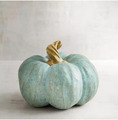 Gracious Gatherings Collection Medium Blue Resin Pumpkin