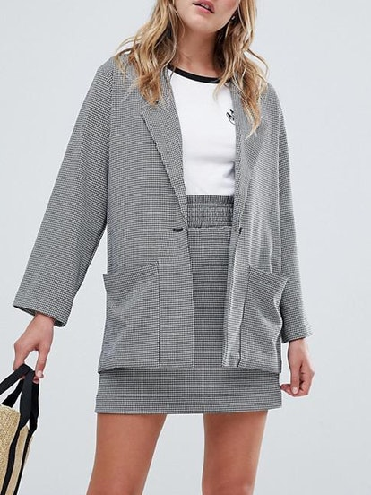 Check Tailored Blazer Two-Piece