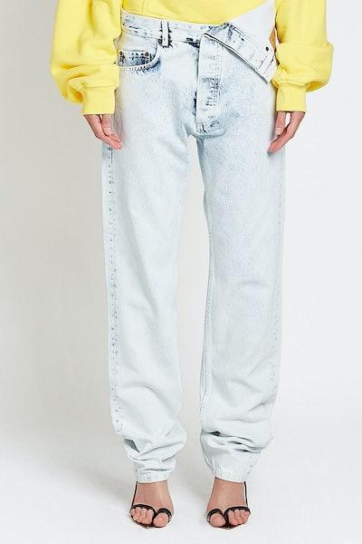 Bleached Asymmetric Jeans