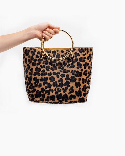 Janis Studios Darka Bag in Leopard Print Size Big