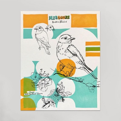 State Bird Print (Shown here: Missouri)