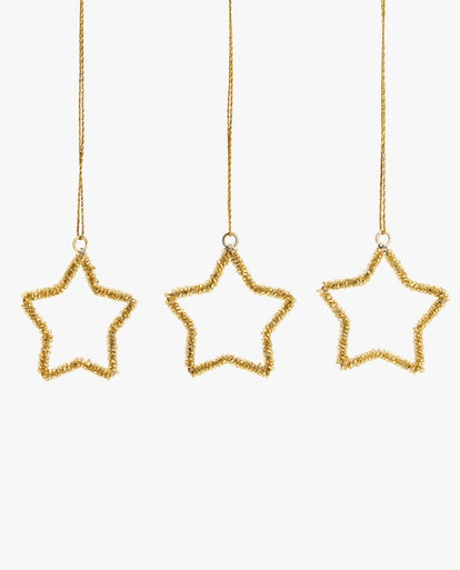 Star Ornament (Pack Of 3)