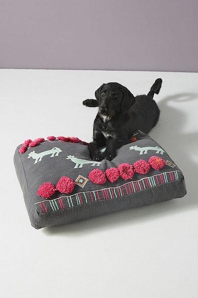 Plush Applique Dog Bed