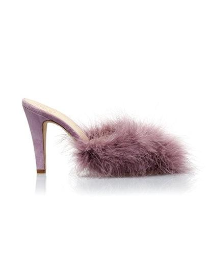 Lavender Feather Pumps