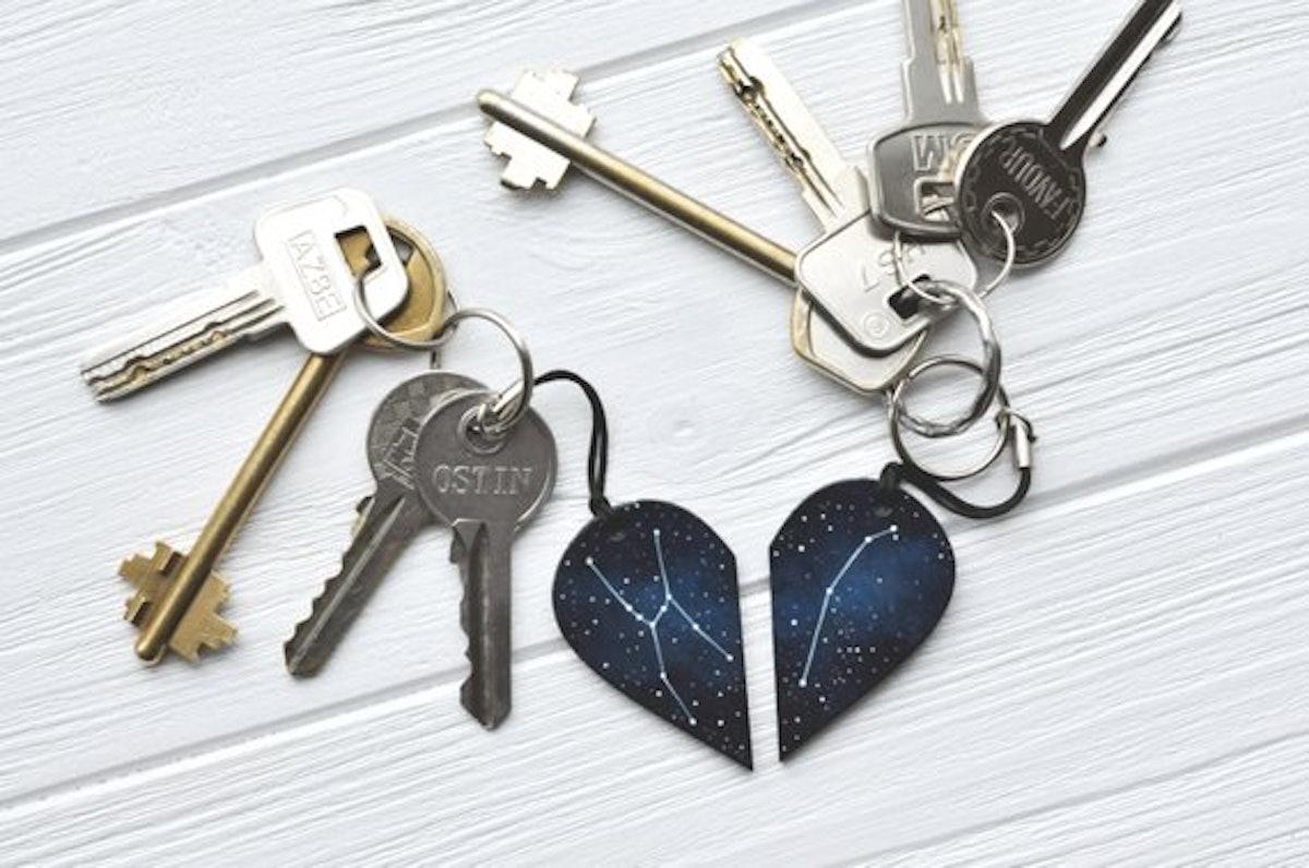 Half Heart Keychain