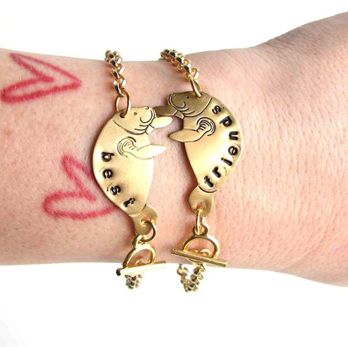Best Friends Manatee Bracelet Set
