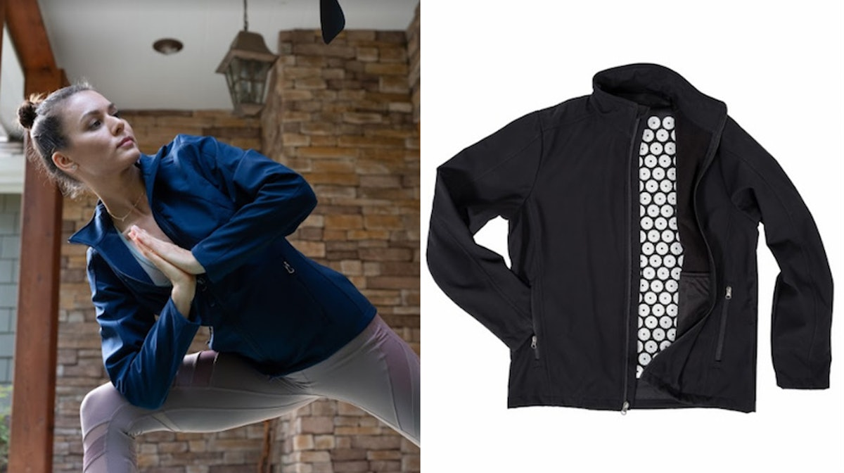 What Is The Yogi Jacket? The Acupressure Jacket Soothes Stress & Back Pain At The Same Time