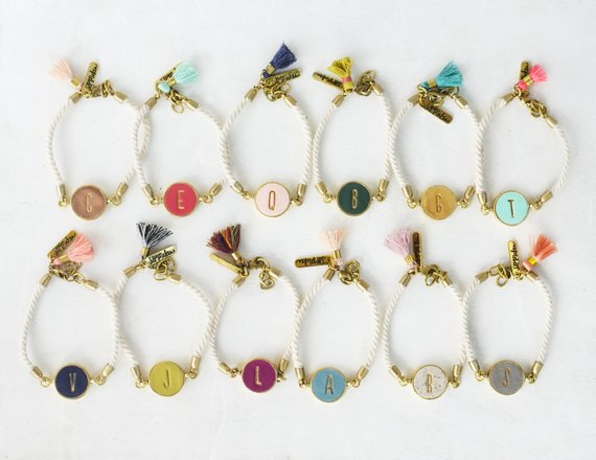 Personalized Initial Clay Bracelet