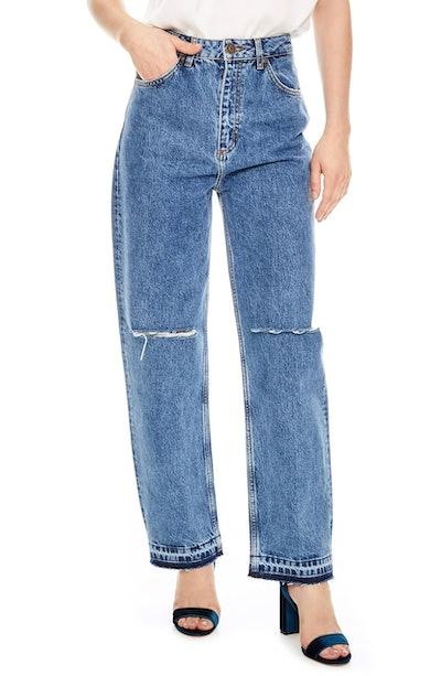 Fluffy Straight-Leg Jeans