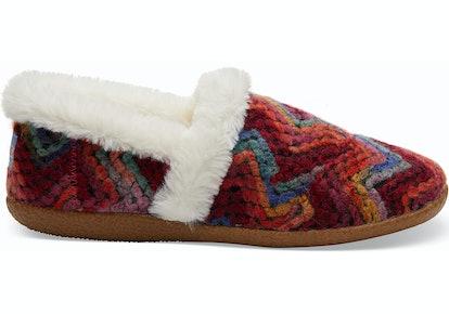 Berry Heavy Chevron Women's Slippers