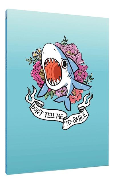 Don't Tell Me to Smile Shark Flexi Journal