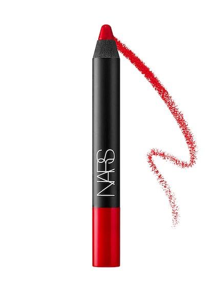 Velvet Matte Lipstick Pencil In Siren Red
