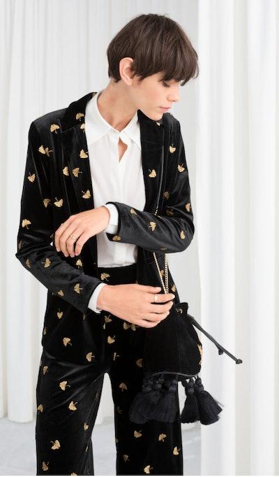 Embroidered Velvet  Jacket/Trousers