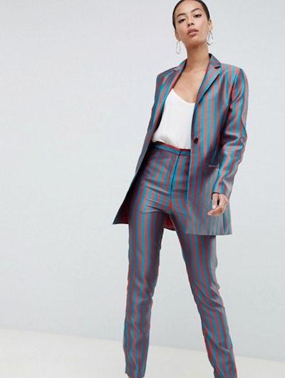 ASOS Design Tall Stripe Jacquard Suit