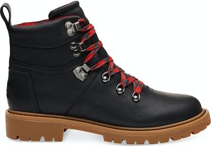 Black Leather Weatherproof Women's Summit Boots
