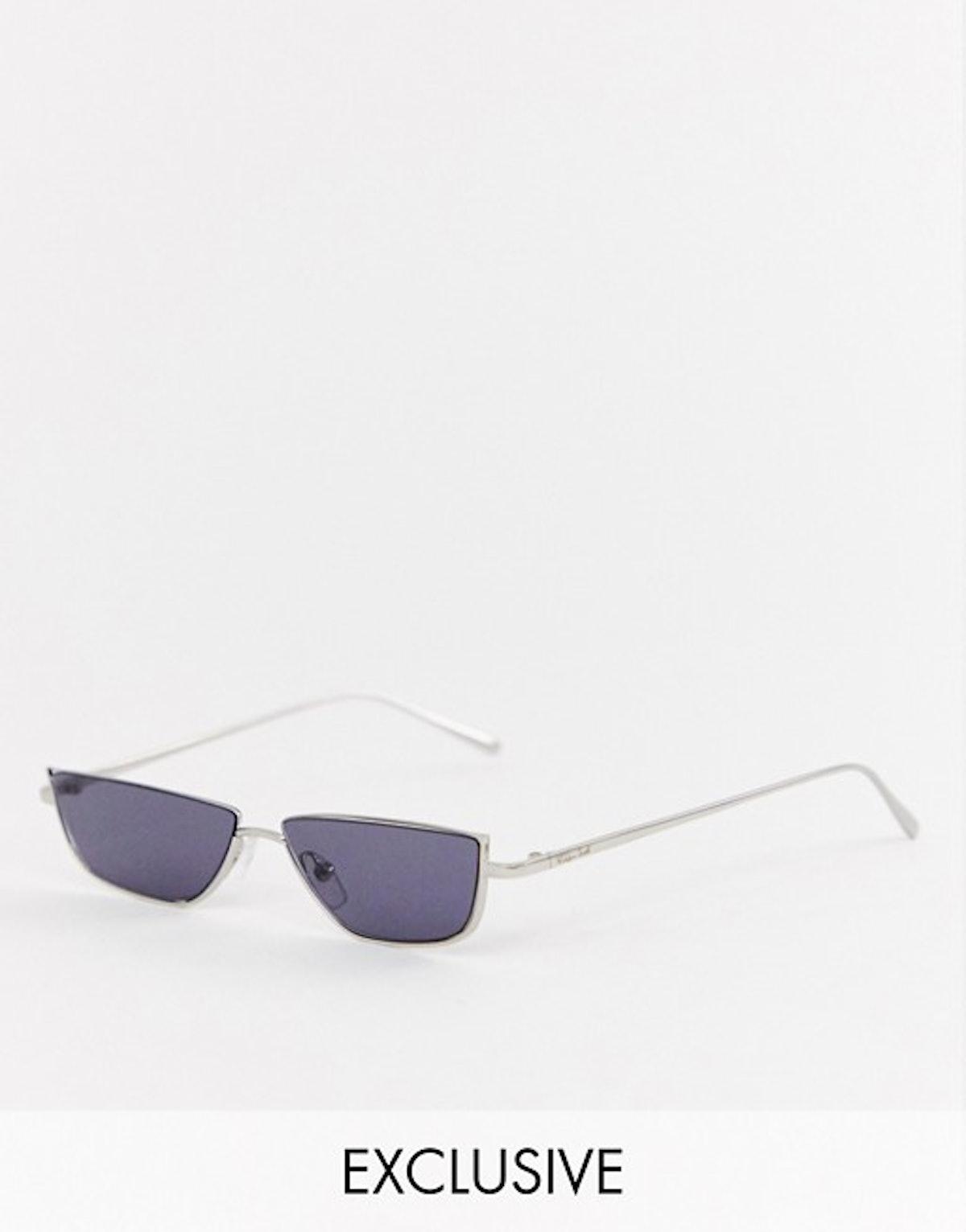 ASOS DESIGN x LaQuan Smith narrow lens sunglasses