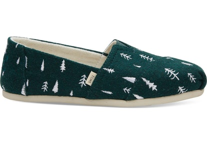 Spruce Felt Trees Embroidered Women's Classics