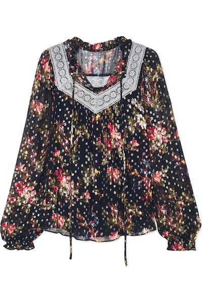 Winter Forest Floral Blouse