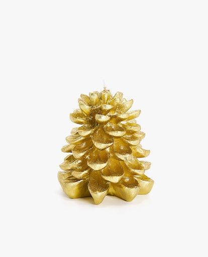 Fir Tree-Shaped Candle