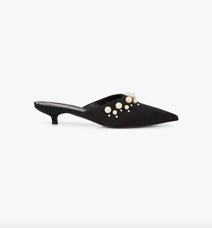Pearl Embellished Mules