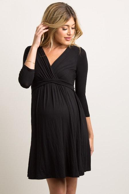 Wrap 3/4 Sleeved Dress