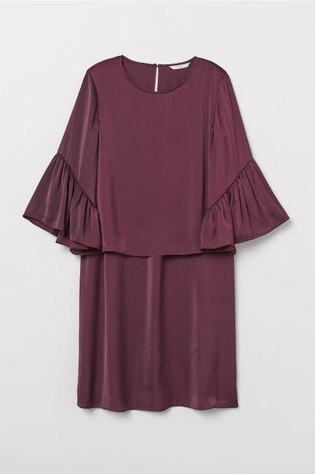 Flutter Sleeved Nursing Dress