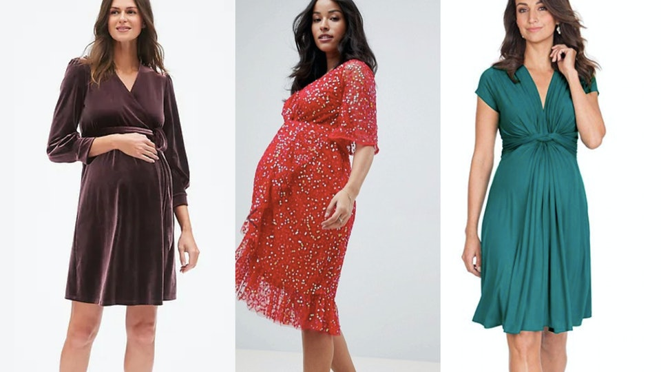 14 Cute Maternity Dresses For 2018 Holiday Parties, Because Your ...